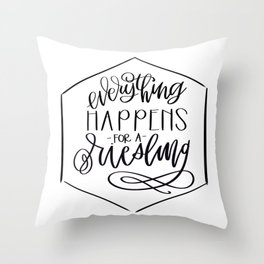 Everything Happens for A Riesling Throw Pillow