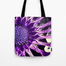 African Daisy in Manipulated Purple Tote Bag