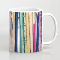 vinyl Mugs featuring Vinyl  by Laura Ruth