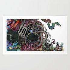 Pile of Monsters Art Print