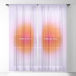 Working On My Aura, SZA Love Galore Sheer Curtain