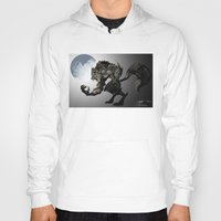 werewolf Hoodies featuring Werewolf by Michelena
