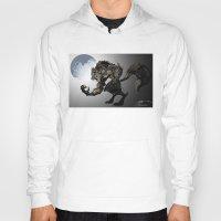 werewolf Hoodies featuring Werewolf by Michelena