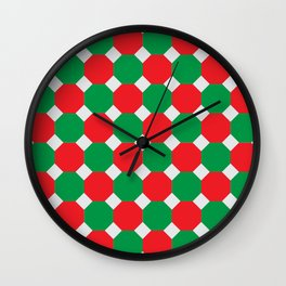 Christmas Color Octagons Wall Clock