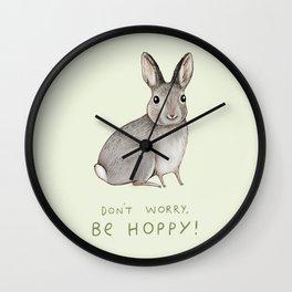 Don't Worry Be Hoppy Wall Clock