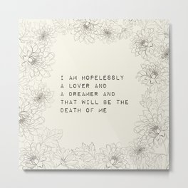 i am hopelessly a lover - R. Kaur Collection Metal Print