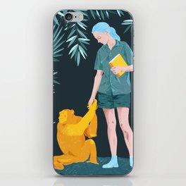 Jane and Fifi - Jane Goodall tribute illustration iPhone Skin