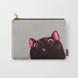 Curious cat, Black cat, Pop Art cat. Carry-All Pouch