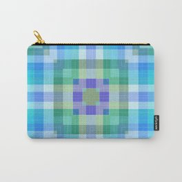 Geometric Blue and Green Carry-All Pouch