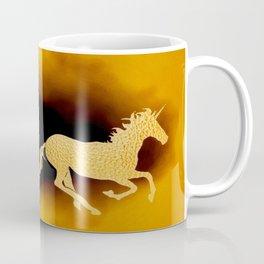 Golden couple unicorns-Beige Coffee Mug