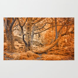 Glowing Amber Forest Rug