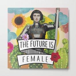 Future is Female Metal Print