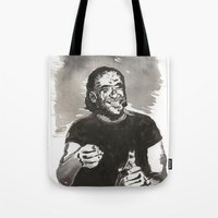 bukowski Tote Bags featuring Bukowski by Hosho McCreesh