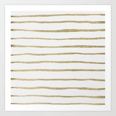 Gold Stripes Art Print