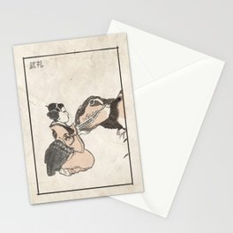 Geisha & Baby T-Rex Stationery Cards