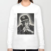 jay z Long Sleeve T-shirts featuring Jay-Z by Sarah Painter