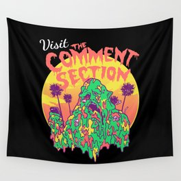 Visit the Comment Section Wall Tapestry
