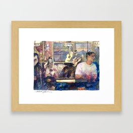 the Night Before the Night Before Framed Art Print
