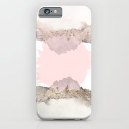 Pale Pink on Mountains iPhone Case