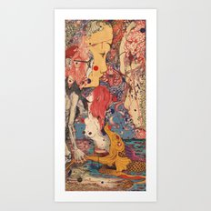 Release color Art Print