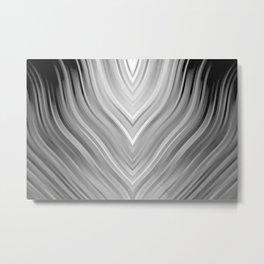 stripes wave pattern 3 bwgr Metal Print