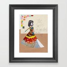The little girl that loves to dress up Framed Art Print