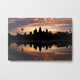 Angkor Wat Sunrise Metal Print