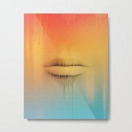 Data Kiss Metal Print
