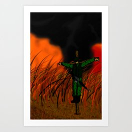 World in Flames Art Print