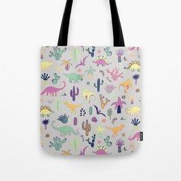 Dinosaur Desert Tote Bag