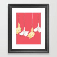 Cherry Blossom: Red Framed Art Print