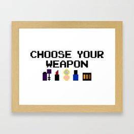 Lip-stick to Your Guns Framed Art Print