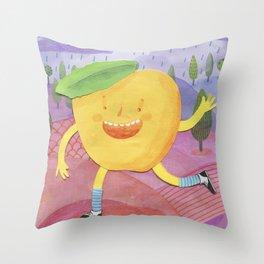 The happy peach! Throw Pillow