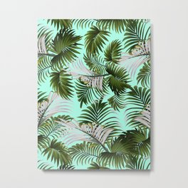 Tropical Leaf Pattern II Metal Print