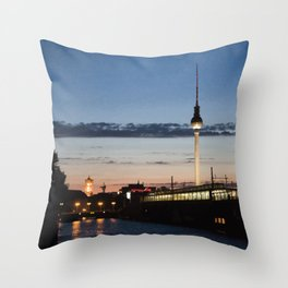 Berlin at night Throw Pillow