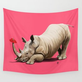 Horny (Colour) Wall Tapestry