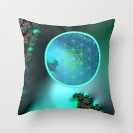 Flower of Life and six pointed Star Throw Pillow