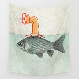 Goldfish with a Shark Fin Wall Tapestry