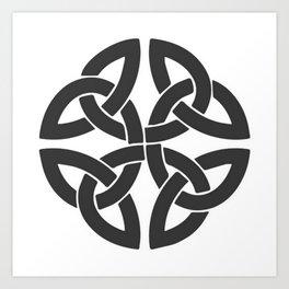 Celtic Shamrock Tribal Knot Art Print