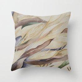 Flowing Autumn Seeds Throw Pillow