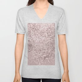 Blush Glitter Dream #1 #shiny #decor #art #society6 Unisex V-Neck
