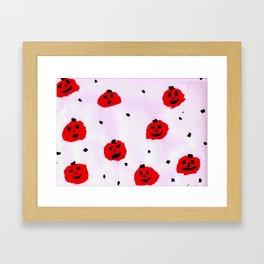 Vibrant Pumpkins pattern Framed Art Print