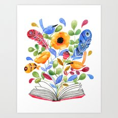 My Book of Thoughts Art Print