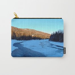 Frozen Mountain River Carry-All Pouch