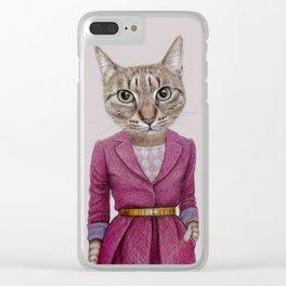 cat Mrs Clear iPhone Case