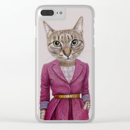 cat Mrs Clear iPhone Case