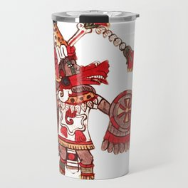 Dancing Aztec shaman warrior Travel Mug