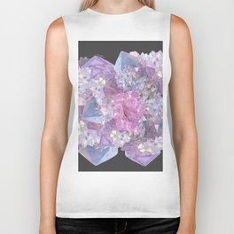 ROSE & PURPLE QUARTZ CRYSTALS MINERAL SPECIMEN Biker Tank