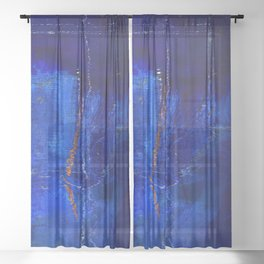 Into The Blue No.3a by Kathy Morton Stanion Sheer Curtain