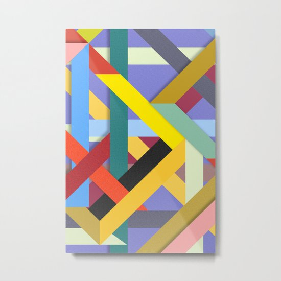 Abstract #225 Corners, Intersections & Dead Ends Metal Print